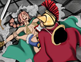 One Piece 720: Rufy vs. Rebecca by YameGero