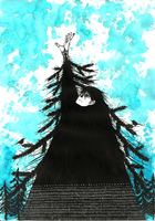 The pine tree that wanted to touch the sky... by molnareszter
