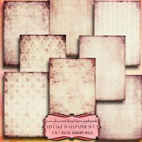 SHABBY WALLPAPER scrapbook collage sheet by miabumbag