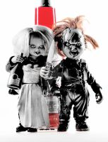 Chucky and Tiffany I by Arc-Elline
