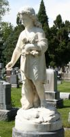 Mount Olivet Cemetery Woman 177 by Falln-Stock