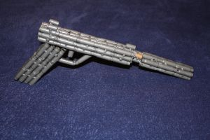 Medium Glock with Clear Finish and Suppressor by RayMackenzie