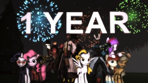 One Whole Year by The-Lunar-Brony
