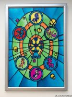 Elements of Harmony - stained-glass window by facja