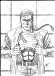 Superman sketch A4 by gregohq