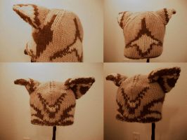 Tricolor Double Knit Wolf Hat by aetherfang