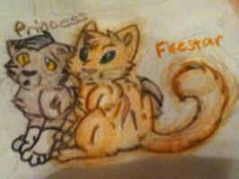 Firestar and Princess by Infected-Shadows