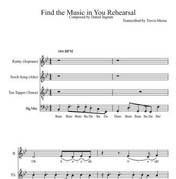 Find the Music in You Rehearsal Transcription by scarletice