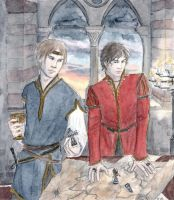 The eagle and his knight by DrawnSeawards