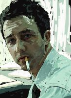 Edward Norton in Fight Club by POLO88