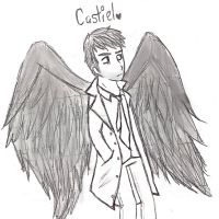 Castiel the Angel -Sketch- by sclirada