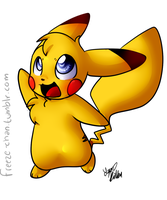 Pikachu chibi by Freeze-pop88