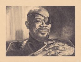 Sam Jackson As Nick Fury by SparksflyStudios