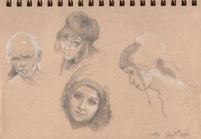 Portrait sketches by strawbos