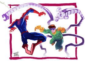 Spidey and Doc Oc by Nezart