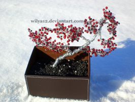 Wire bonsai red and black II by Wilya12