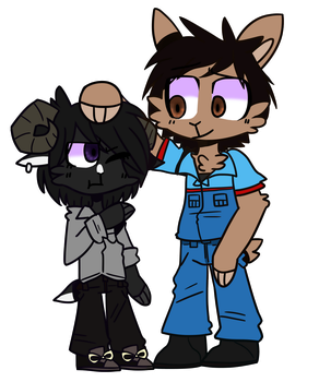 [Art Trade]-Shia and Alpha by SnowyAcorN