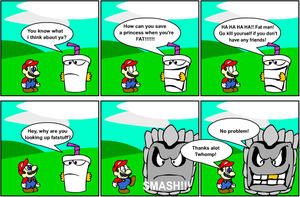 Insulting Mario by karasz87