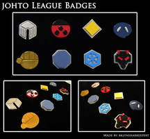 Johto League Badges by BklynSharkExpert
