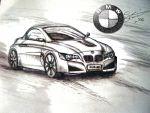 BMW Design drawing by artsoni