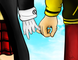 Soul Eater OTP Challenge: Day 1 Holding Hands by FlashyFashionFraud