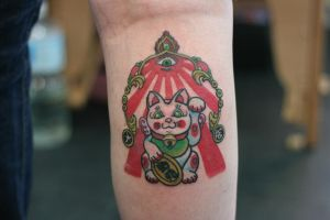 Hanamichi Lucky Cat by Lucky-Cat-Tattoo