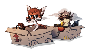 Grand Theft Cardboard by Zerda-Fox