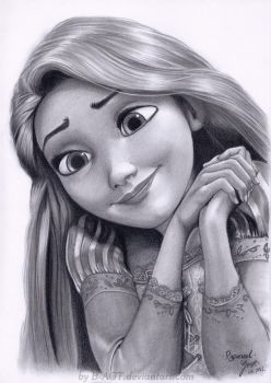 Rapunzel Drawing 2 by B-AGT