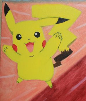 Childhood:  Pikachu by Raspberrythebat55