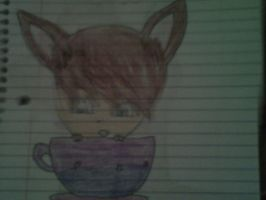 im hiding in a tea cup by NerdyKK