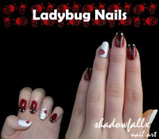 Ladybug Nails by shadowfallx
