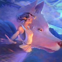 Princess Mononoke by DziKawa