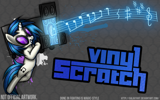 Fighting is Magic - Vinyl Scratch *Commission by Galaxyart