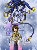 Yuna and Shiva by Tini-S