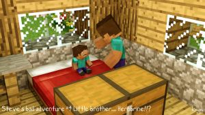 SBA #4 Little Brother..... HEROBRINE!!? by TSangDEncre