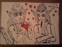 Happy Valentines day from luna and young xehanort by lustyvampire