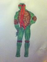 Raphael the muscle. by Wolf-Angel-whitewing