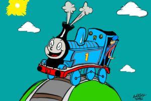 Childhood Collision - Thomas the Seussian Engine by heatstroke2008