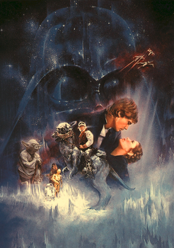 The Empire Strikes Back Poster by Plamdi