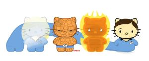 Fantastic Four Kittens by rancid1881
