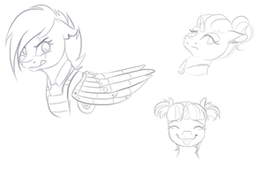 Cutie remark doodles by Chiweee