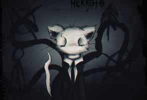 Slenderman cat by Hekkoto