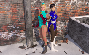 Cammy and Chun Li by EvilEliot