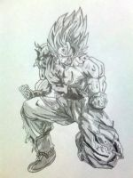 super saiyan goku by vegeta-goku