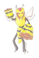 The Bee Sentry Pokemon by Winged-Wasabi