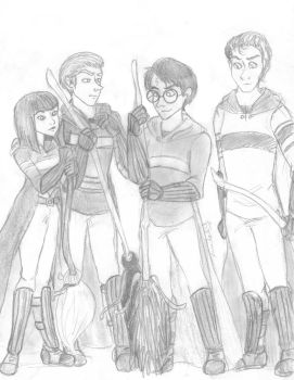 Hogwarts Quidditch by TottieWoodstock