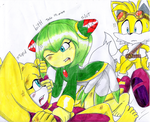 zooey the fox,Cosmo the seedrian and Tails the fox by erosmilestailsprower