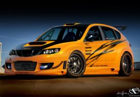 Subaru Impreza-Orange Freak by fliOx