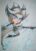 League of Legends Chibi Camille Traditional by JamilSC11