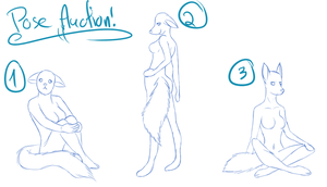 Female Anthro Pre-Pose Auction OPEN by ADS-Adoptables